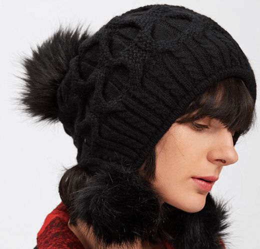 Pom Pom Knit Beanie For Winter | How To Stay Warm and Still Look Cute and Stylish in Winter
