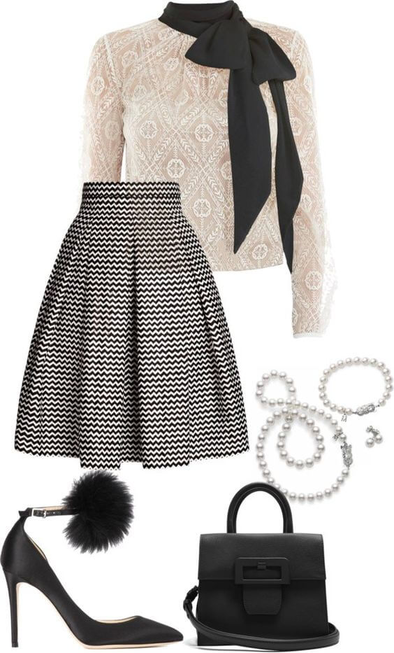 Skirts For Work |Cute Winter Work Outfits To Spice Up Your Monday | Chiclypoised.com