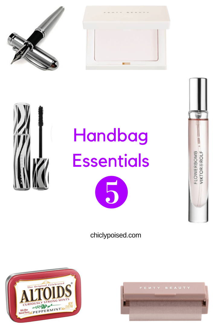The Best Essentials For Your Handbag | Flower Bomb Perfume Roller | Fenty Blotting Powder| Chiclypoised.com