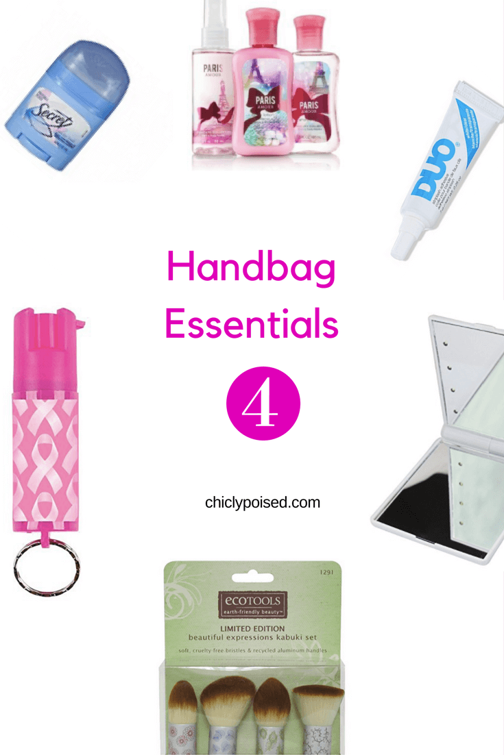 The Best Essentials For Your Handbag | Travel Size Makeup Brushes Great | Chiclypoised.com