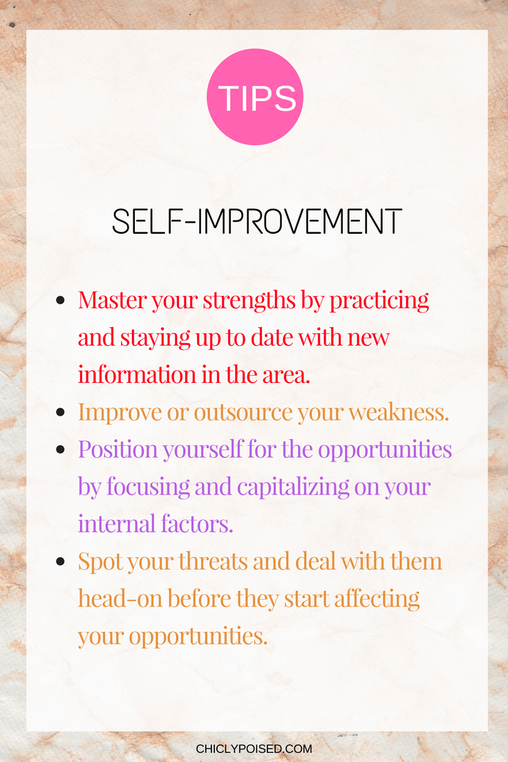 Self-Improvement Guide Using Personal SWOT Analysis | Chiclypoised | Chiclypoised.com