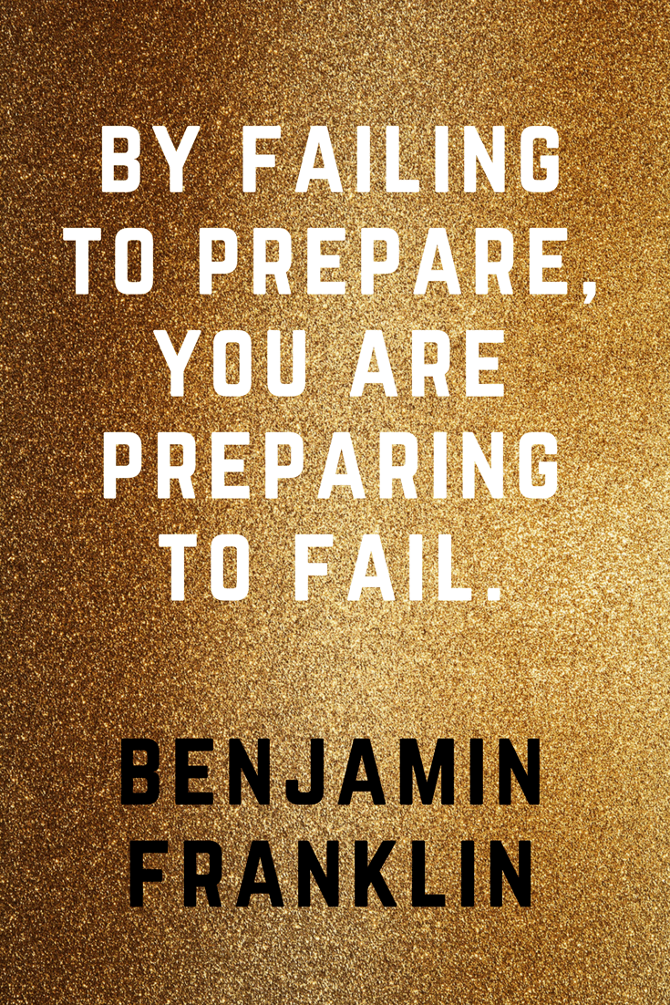 By failing to prepare, you are preparing to fail. |Benjamin Franklin | 30 Quotes To Inspire Positive Thinking and Personal Growth | Chiclypoised | Chiclypoised.com