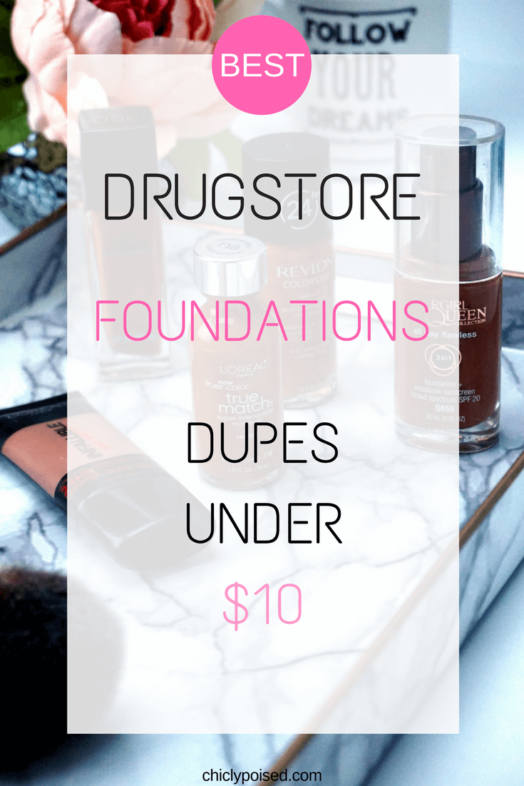 Best Drugstore Foundations Dupes Under 10 Dollars | Deals | Chiclypoised | Chiclypoised.com