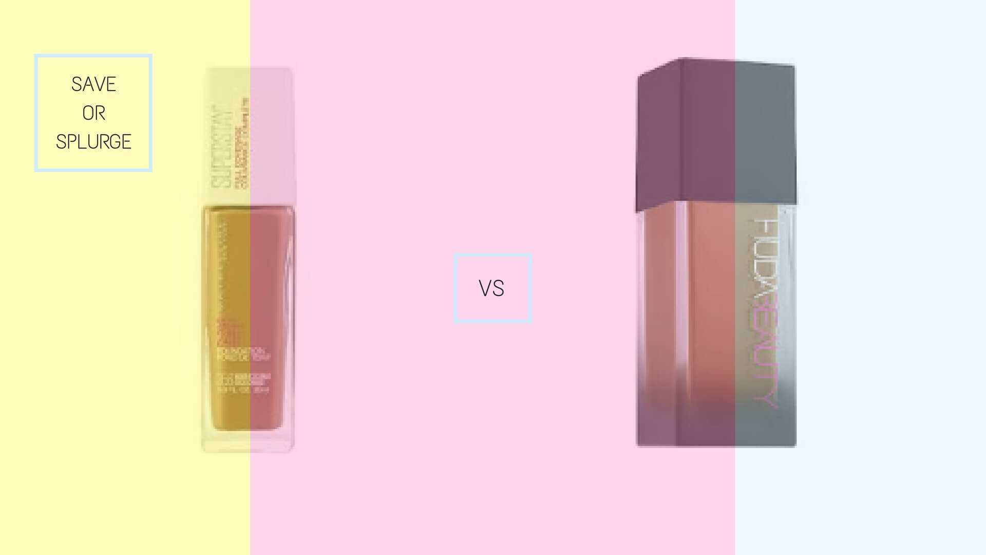 Best Drugstore Foundations Dupes Under 10 Dollars | HUDA Beauty #FauxFilter Foundation Dupe Maybelline Superstay Full Coverage Foundation | Chiclypoised.com