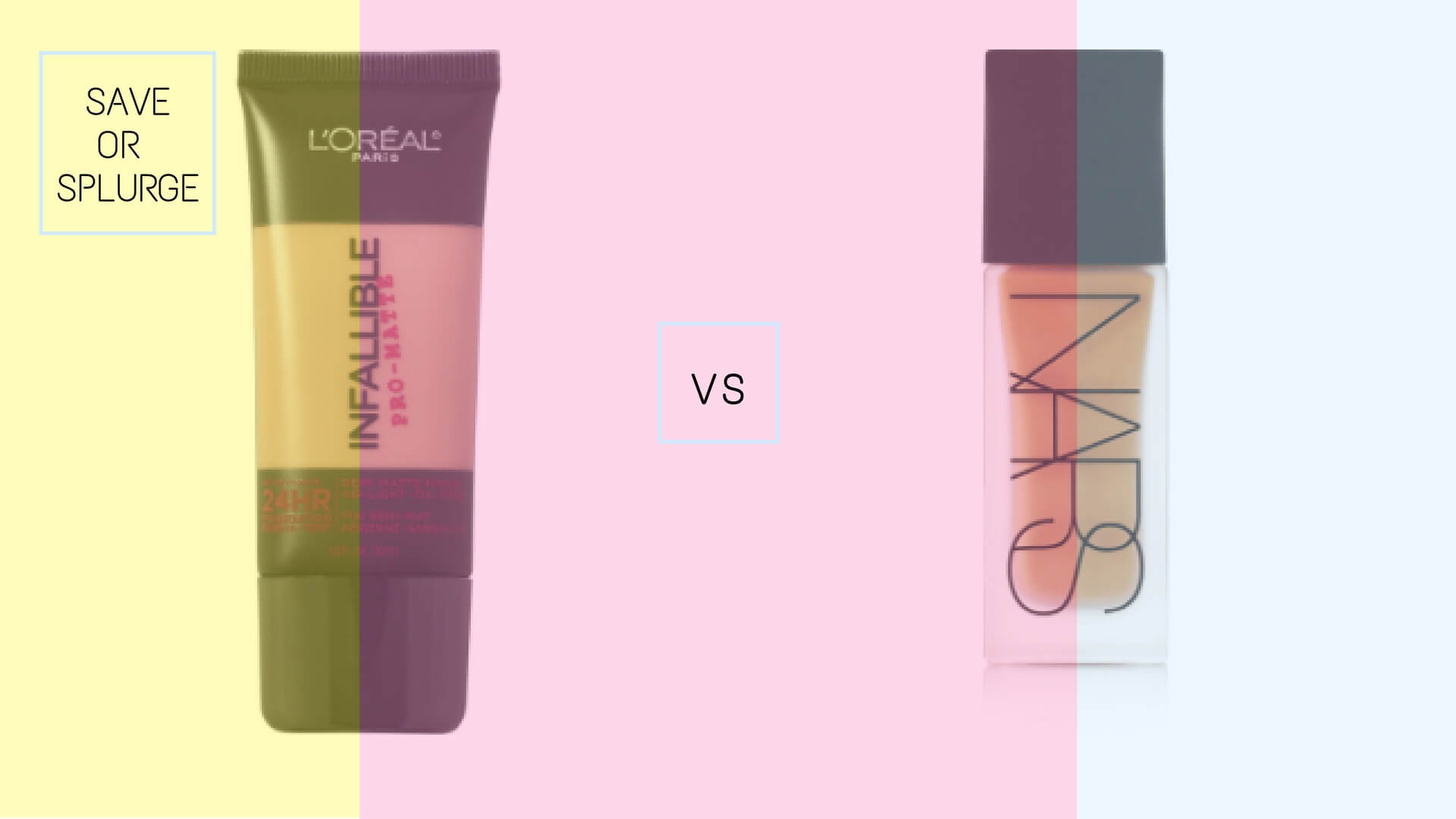 L'Oréal Infallible Pro-Matte 24HR Foundation vs Nars All Day Luminous Weightless Foundation | Best Drugstore Foundations Dupes Under 10 Dollars | Chiclypoised | Chiclypoised.com