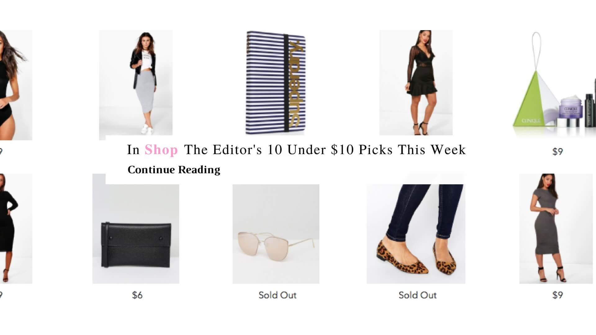 In Shop The Editor's 10 Under 10 Dollars Picks | Chiclypoised.com
