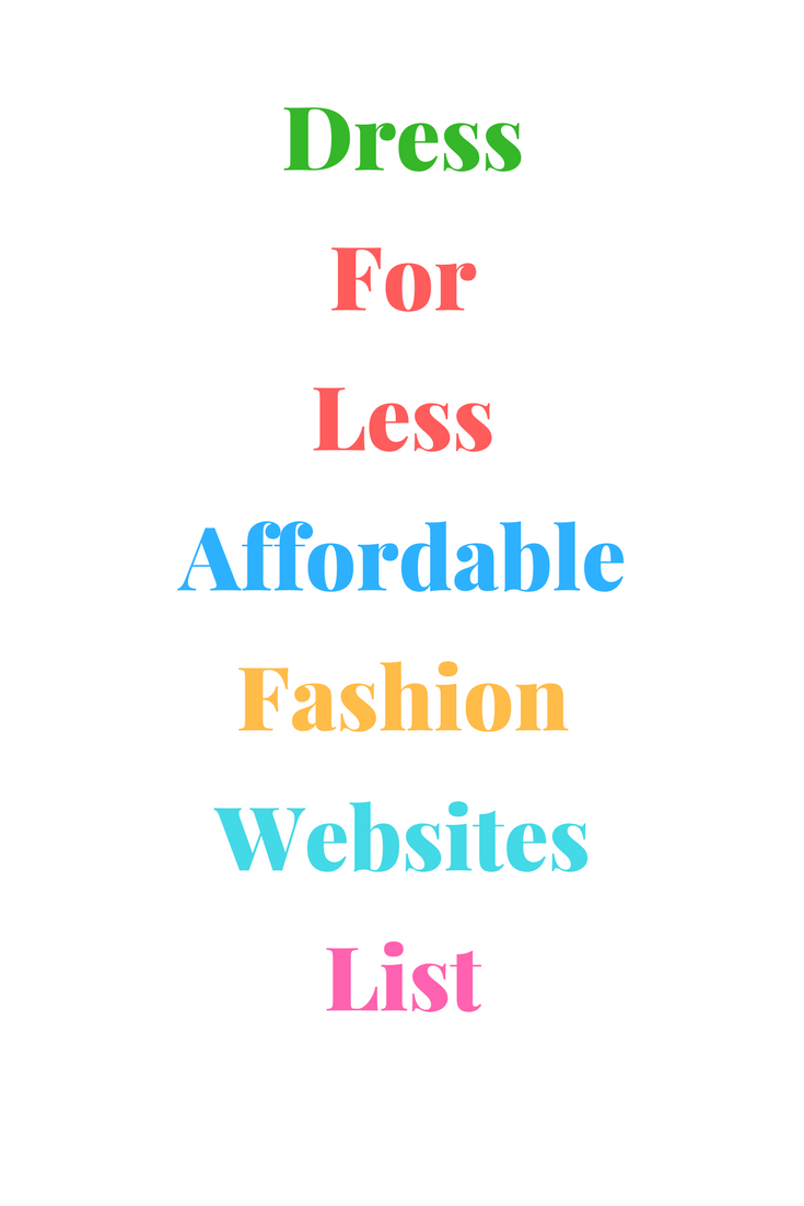 List | Affordable Fashion Websites