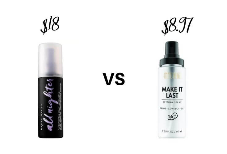 Best Drugstore Makeup Dupes | Setting Spray Dupes 2 of 3