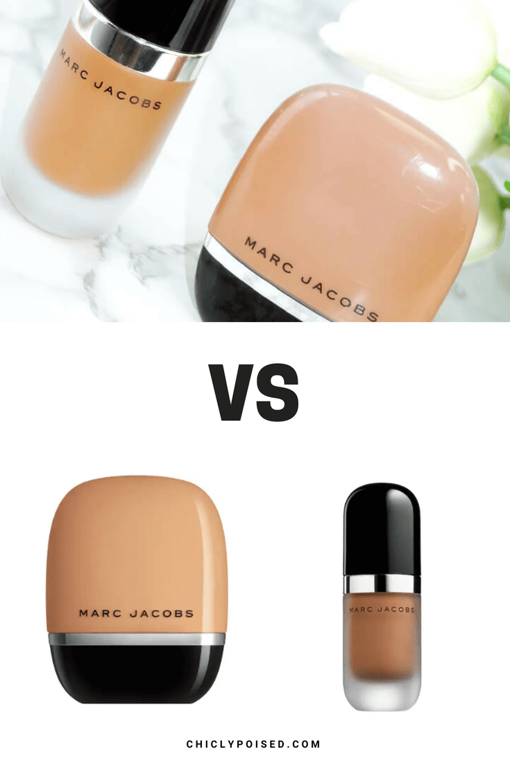 Marc Jacobs Shameless Foundation Vs Marc Jacobs Remarcable Foundation Chiclypoised