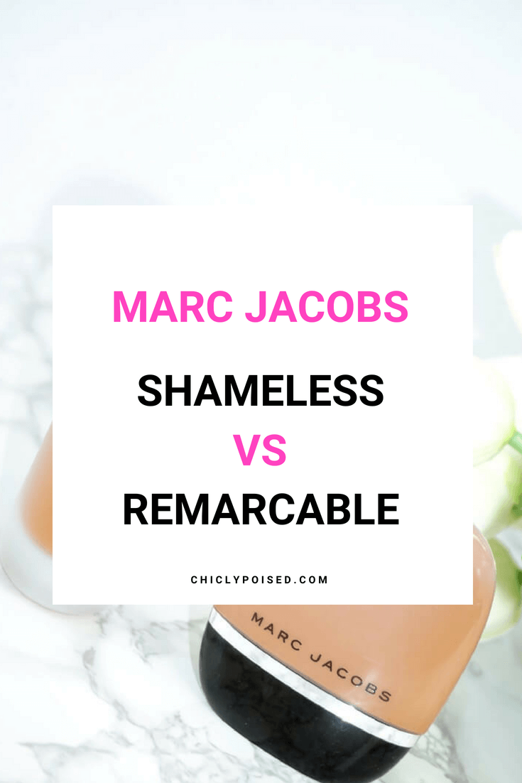 Marc Jacobs Shameless Foundation Vs Marc Jacobs Remarcable Foundation | Marc Jacobs Beauty | Chiclypoised.com