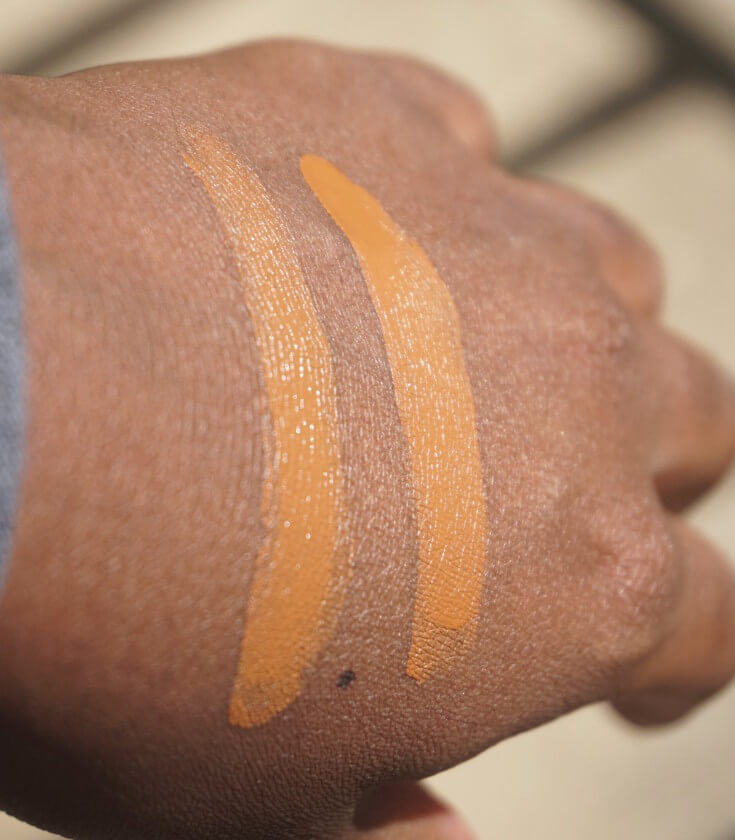 Marc Jacobs Shameless Y500 and R530 Foundation Swatch