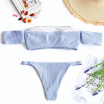 Sexy Off Shoulder Swimwear We Are Here For This Summer | Bathing Suit Set 6 | Chiclypoised.com