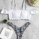 Sexy Off Shoulder Swimwear We Are Here For This Summer | Bathing Suit Set 9 | Chiclypoised.com
