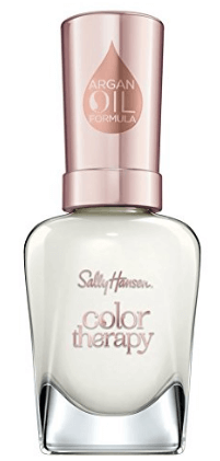 30 White Nail Polishes Under 10 Dollars | Sally Hansen Color Therapy Nail Polish, Well Well Well | Chiclypoised.com