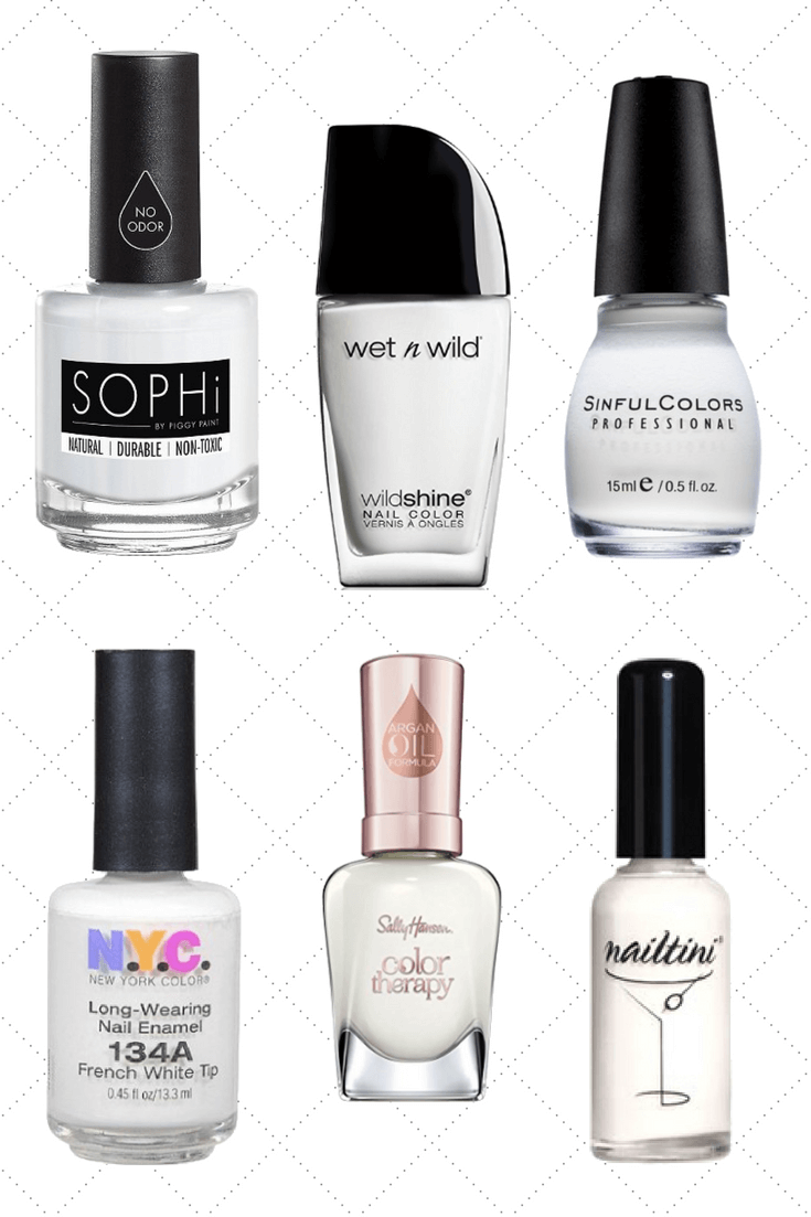 30 White Nail Polishes Under 10 | Nail Polish Under 5 Dollars Dollars | Chiclypoised.com