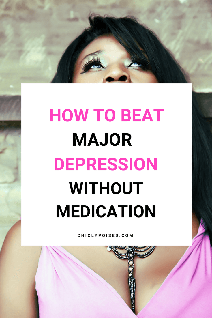 how to deal with major depression without medication