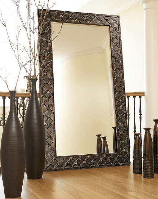 Improve Your Home Decor and Instagram Game With A Floor Mirror |Asstd National Brand Floor Mirror | Chiclypoised.com
