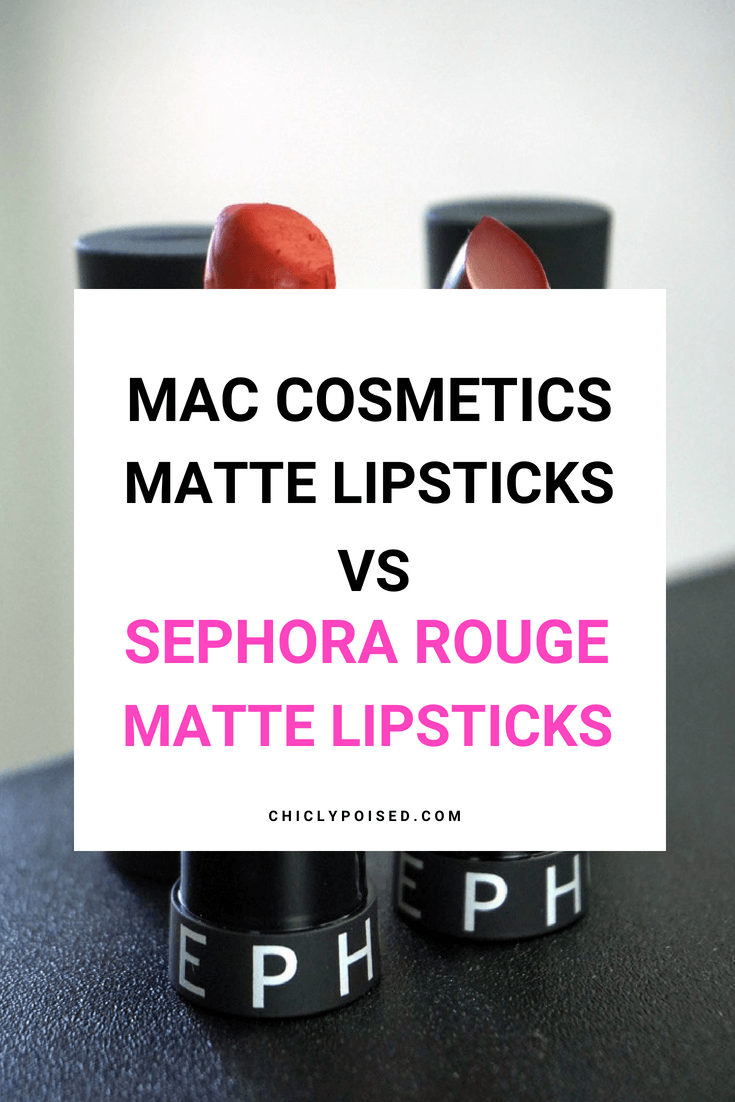 Mac Matte Lipsticks Vs Sephora Rouge Matte Lipsticks Find Out Which One Is The Bomb!