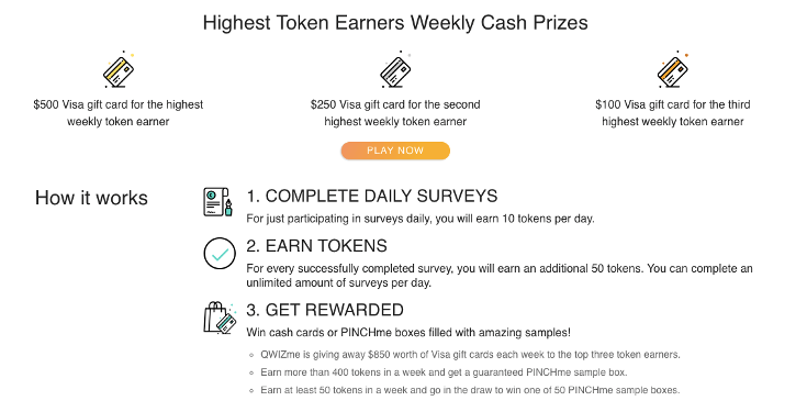 Pinchme Cash Prizes | Chiclypoised.com