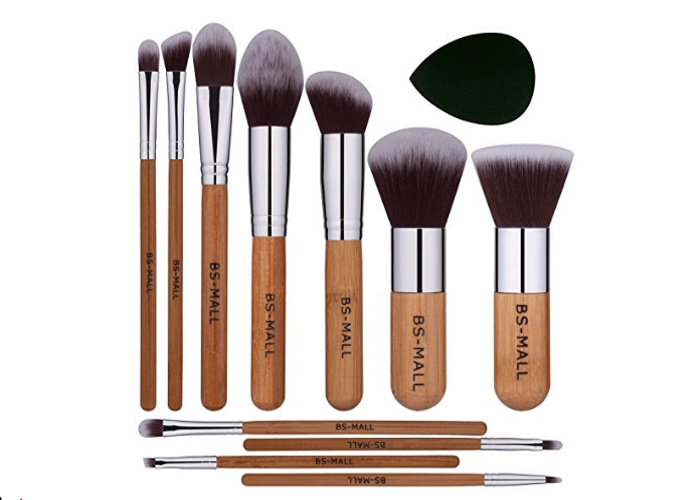 Bamboo Makeup Brush Set Under 10 Dollars