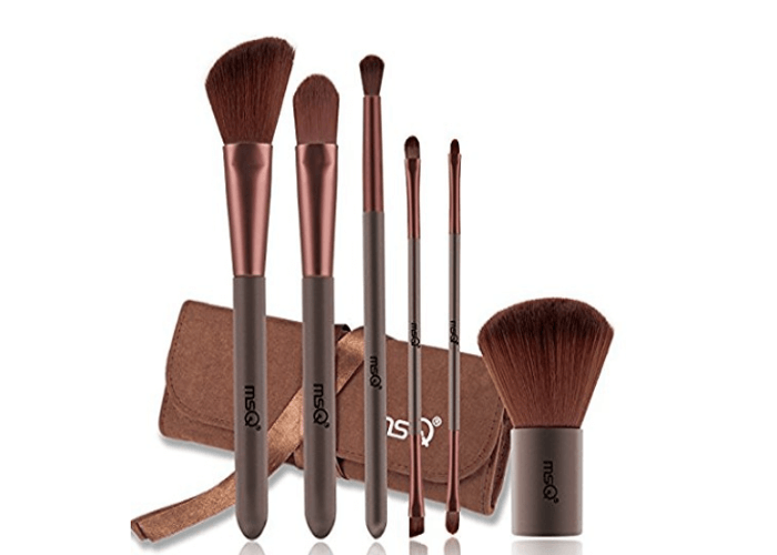 Brown Makeup Brush Set Under 10 Dollars