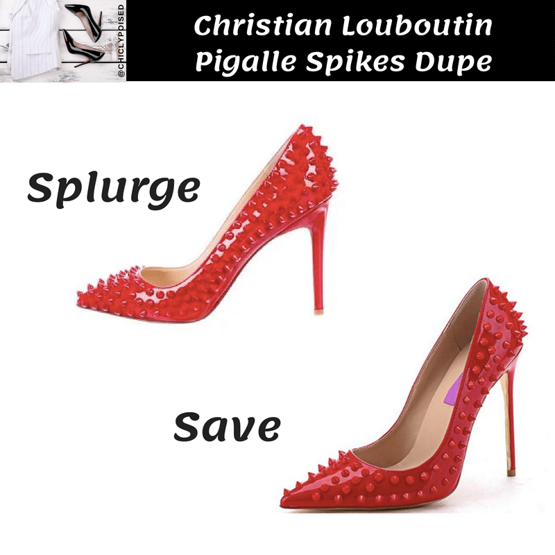 Christian Louboutin Pigalle Spikes Heels Dupe Save Money
