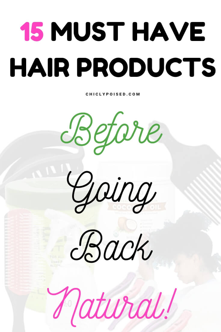 Hair Products Before Going Back Natural