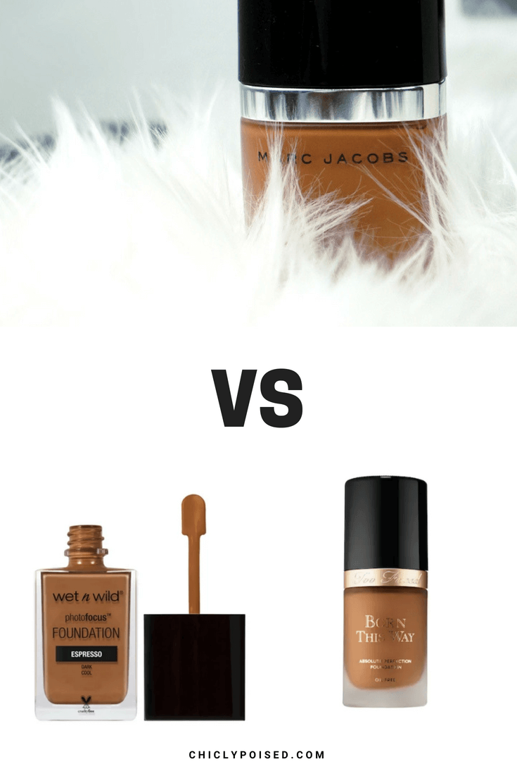 Marc Jacobs Genius Gel Foundation Vs Wet n' Wild Photo Focus Foundation Vs Too Face Born This Way Foundation | Chiclypoised.com