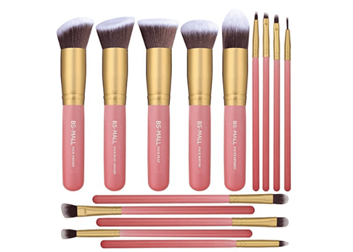 Pink and Gold Makeup Brush Set Under 10 Dollars