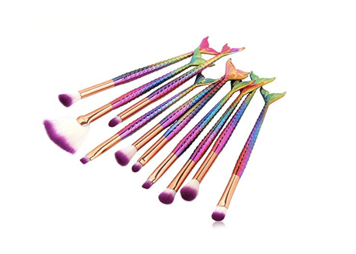 Pretty Mermaid Make Up Brush Set Under 10 Dollars