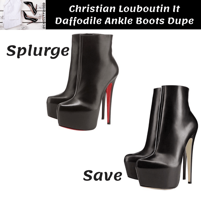 Save On Christian Louboutin Daffodile Boots Dupe