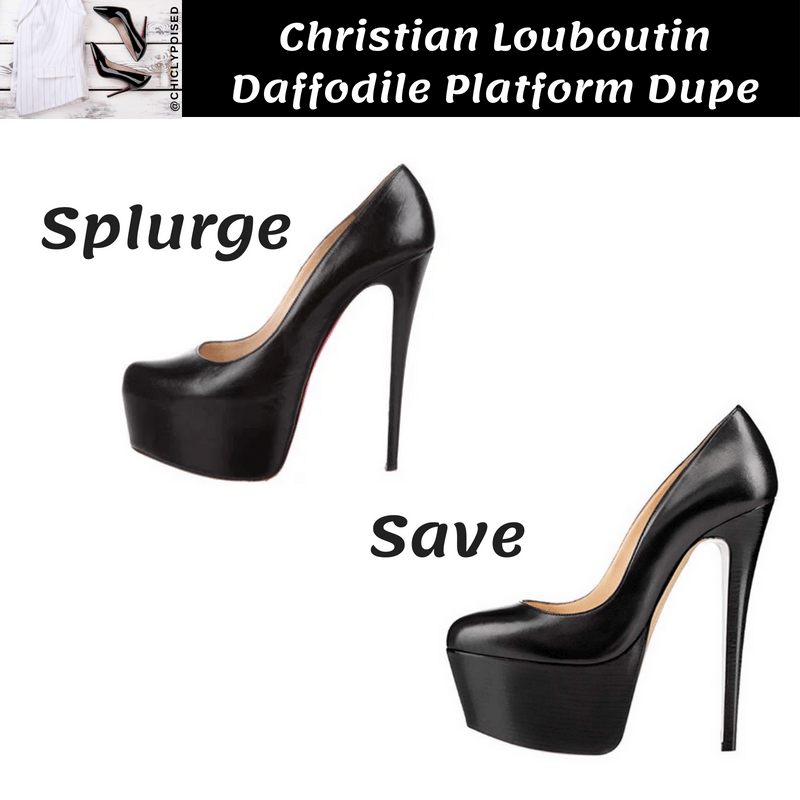 Save On Christian Louboutin Daffodile Platform Heels Dupe