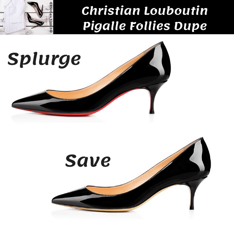Save On Christian Louboutin Pigalle Follies Heels Dupe
