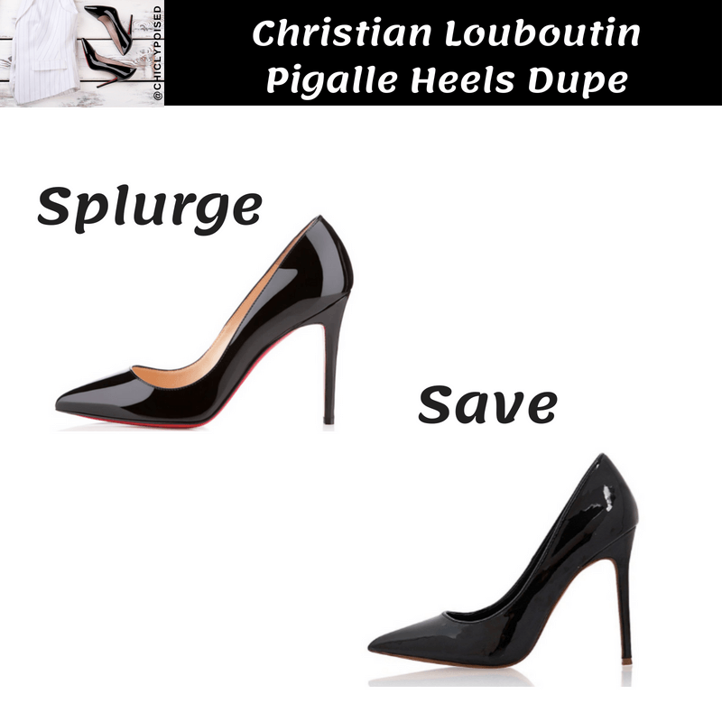 Save On Christian Louboutin Pigalle Heels Dupe