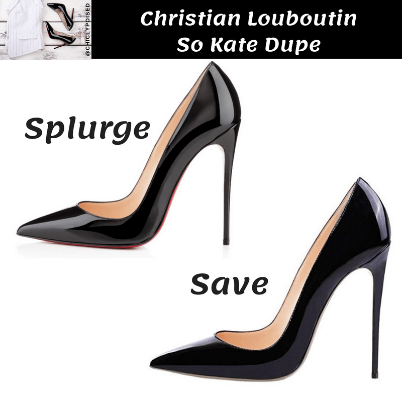 Save On Christian Louboutin So Kate Heels Dupe