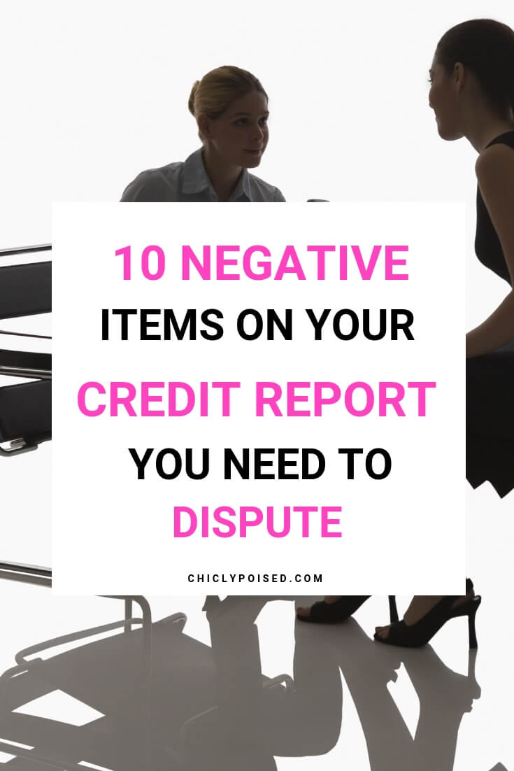10 Ranked Negative Items On Your Credit Report You Need To Dispute