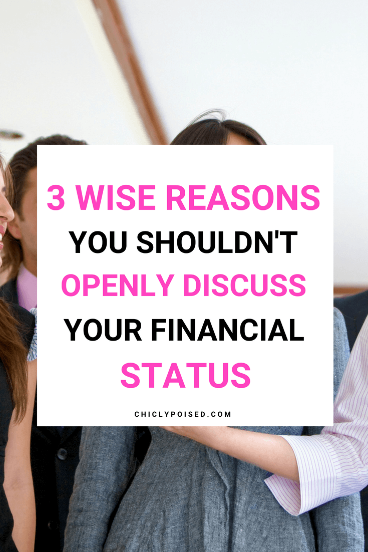 3 Reasons Wise Reason Your Shouldn't Share Your Financial Status