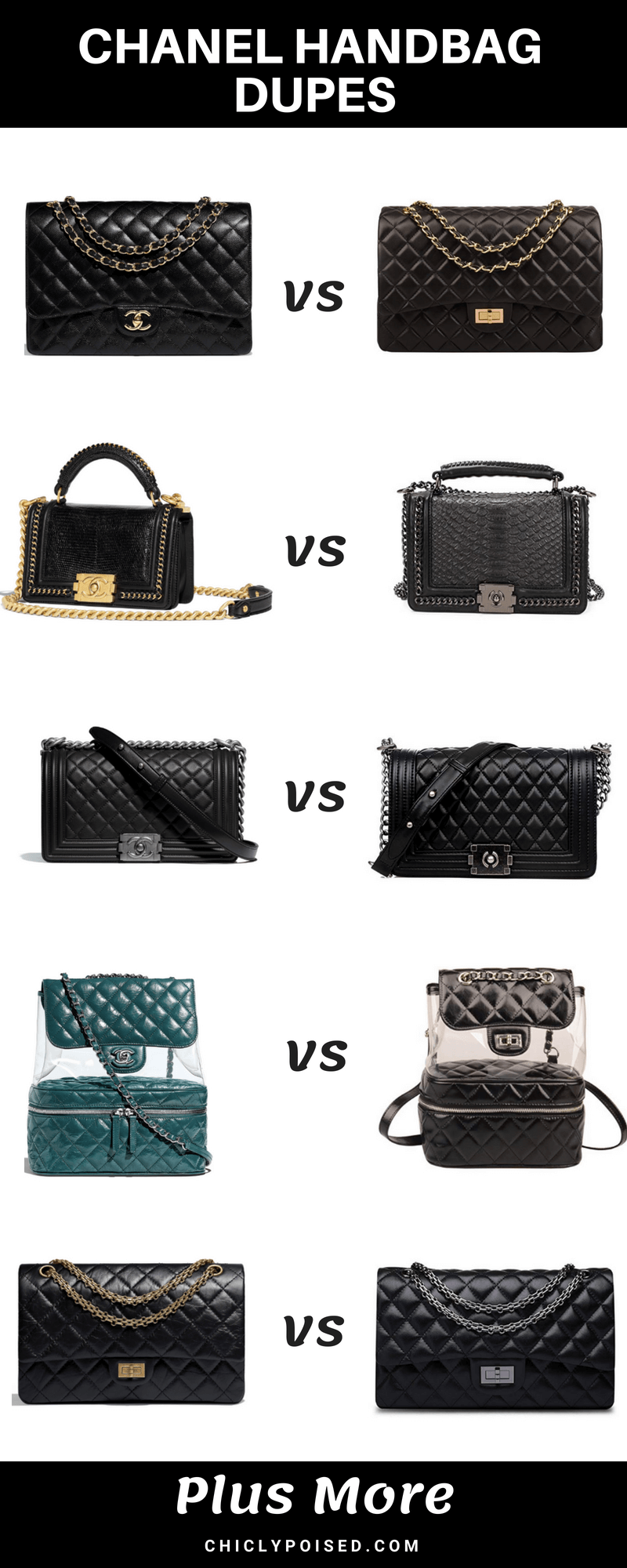 Amazing Chanel Handbags Dupes You Didn't Know About