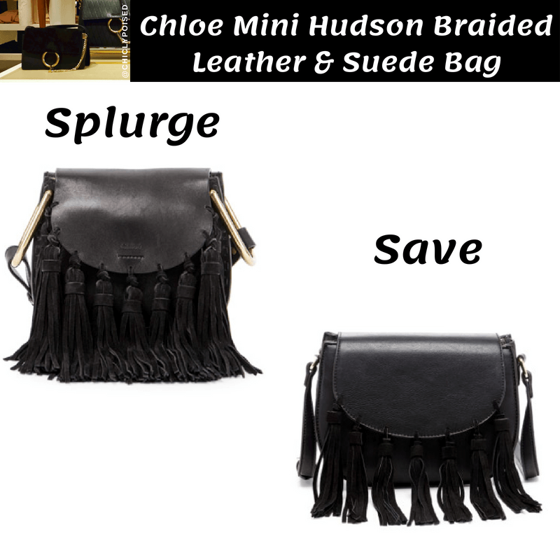 Best Chloe Mini Hudson Braided Leather & Suede Bag Dupe