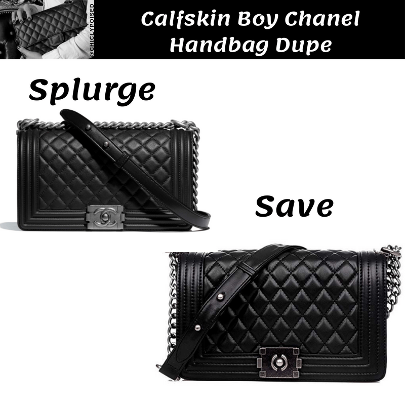 Calfskin Boy Chanel Handbag Dupe Save Money