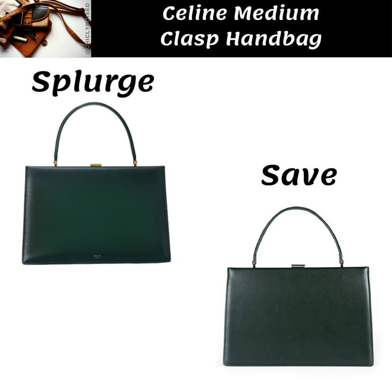 Celine Medium Clasp Handbag In Box Dupe