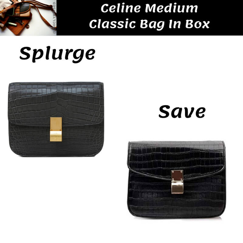 Celine Medium Classic Bag In Box Crocodile Dupe