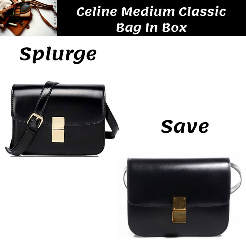 Celine Medium Classic Bag In Box Dupe