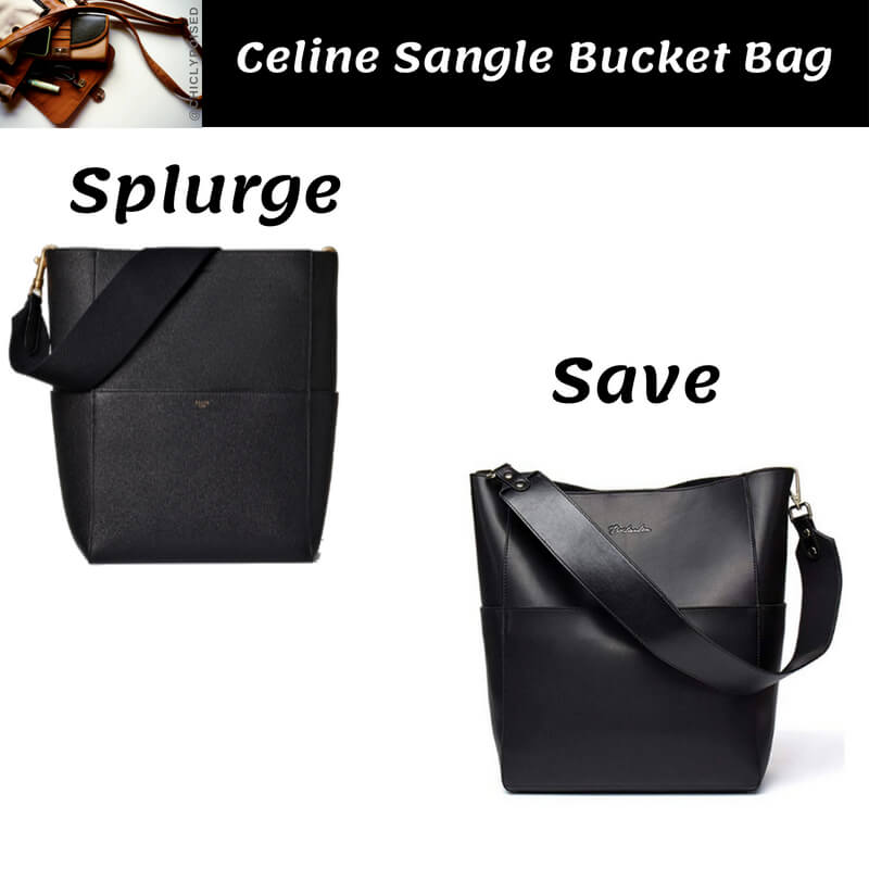 Celine Sangle Bucket Bag Dupe