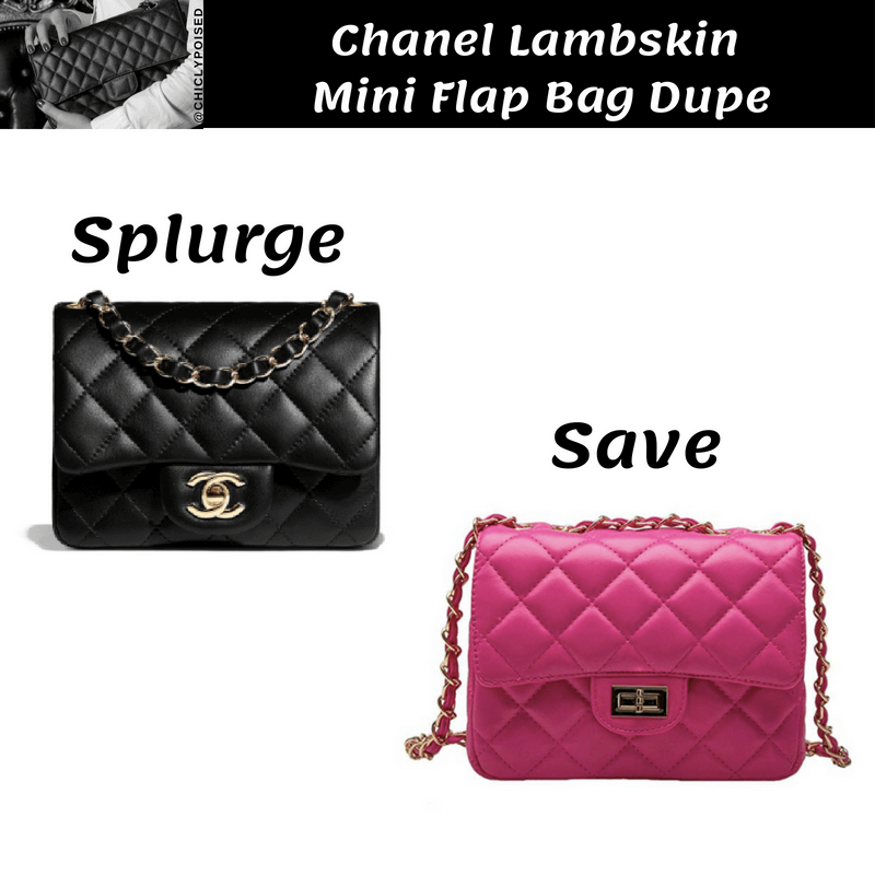 Chanel Lambskin Mini Flap Bag Dupe Save Money