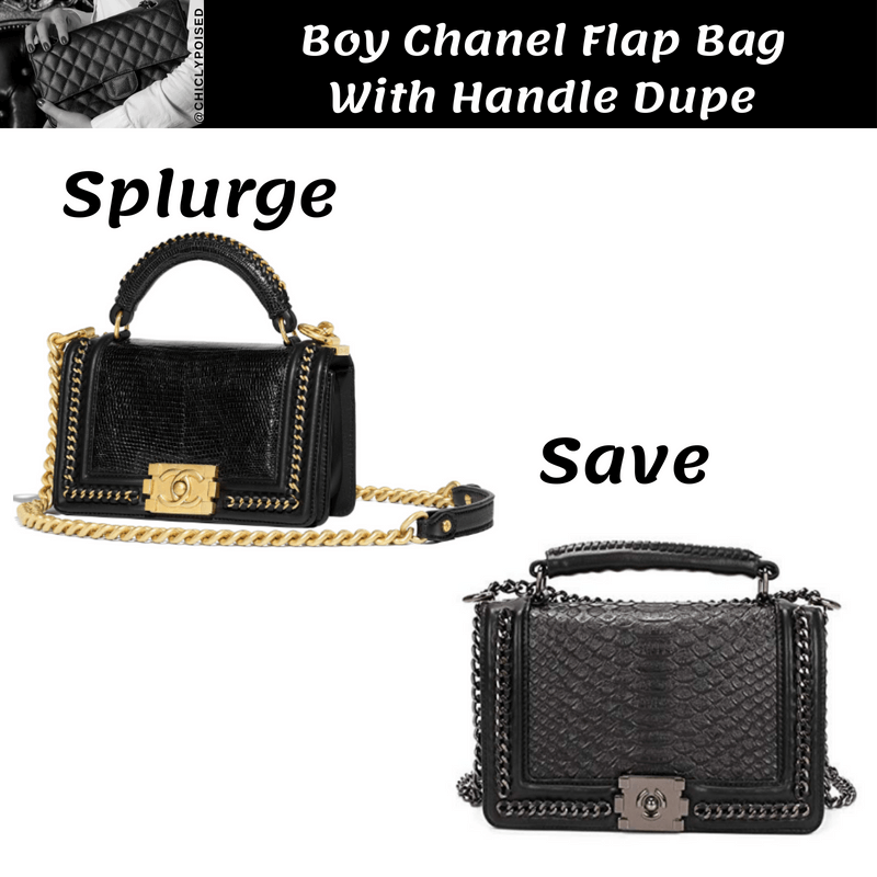 Cheap Boy Chanel Flap Bag With Handle Dupe