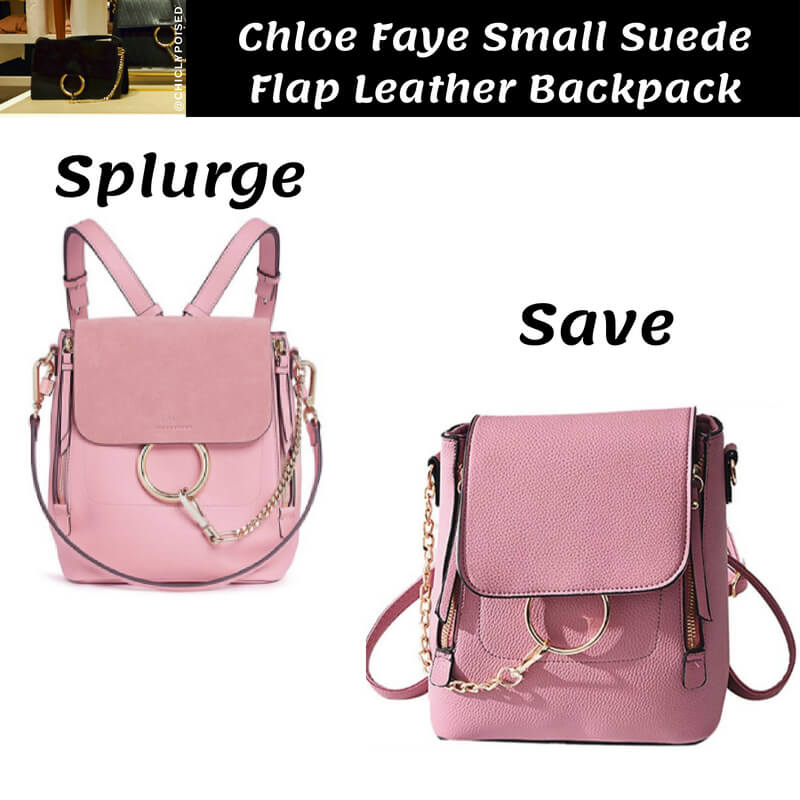 Chloe Faye Small Suede Flap Leather Backpack