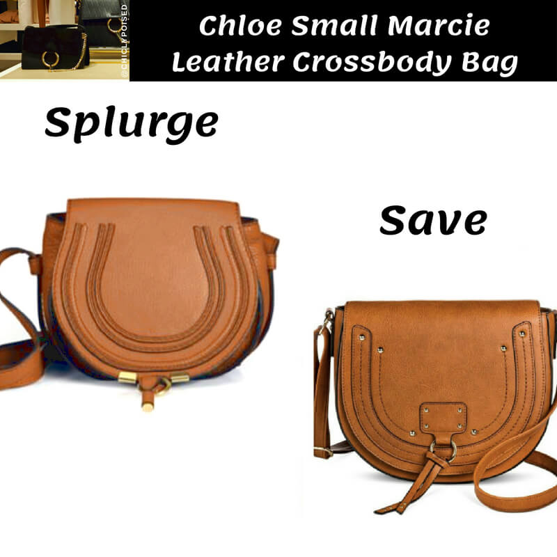 Chloe Small Marcie Leather Crossbody Bag Dupe