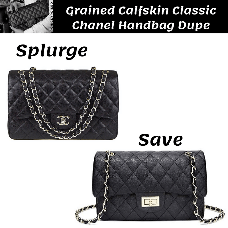 Grained Calfskin Classic Chanel Handbag Dupe