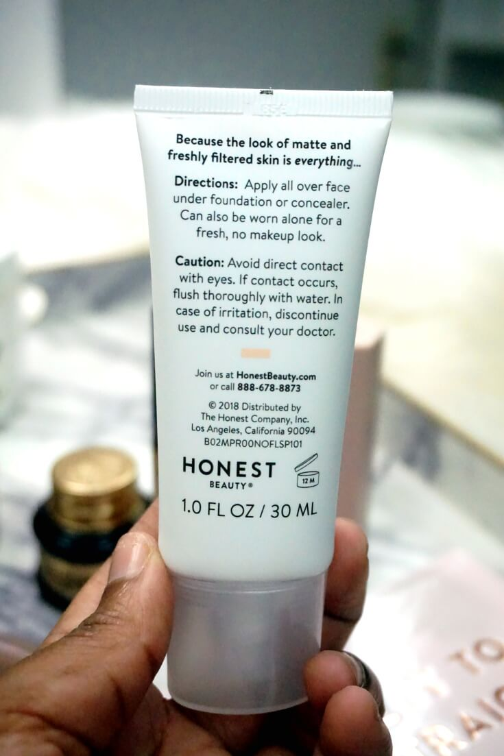 Honestly Honest Beauty Everything Matte Primer